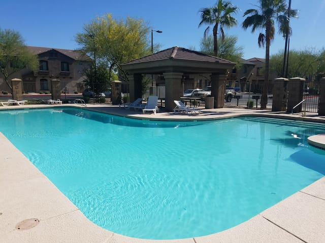 Clean pool to cool off in Arizona