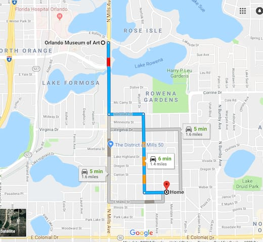 Distance to Orlando Museum of Art