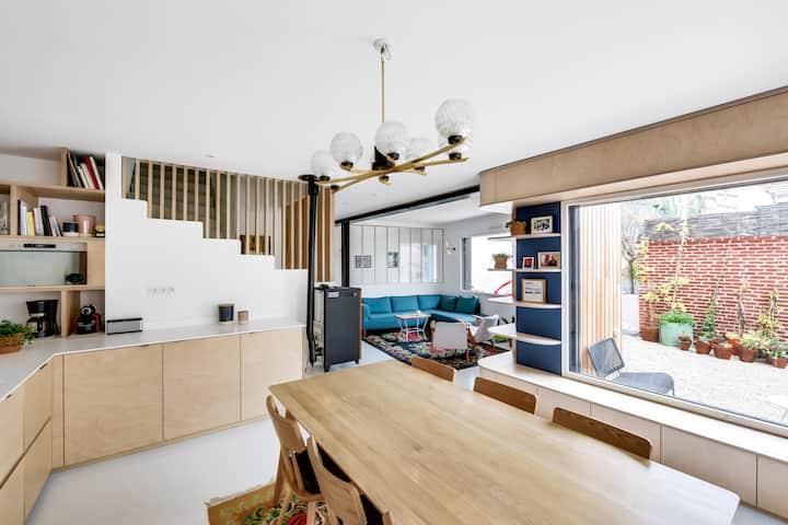 Maison en bois familiale aux portes de Paris !