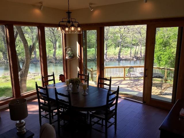 Riverfront Country Lodge (#1 Trout Fishing in TX)