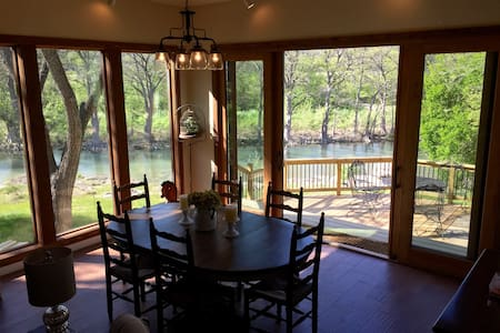 Riverfront Country Lodge (#1 Trout Fishing in TX) - New Braunfels - House