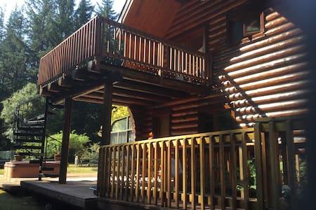 Redwood Log Cabin Upstairs Room C