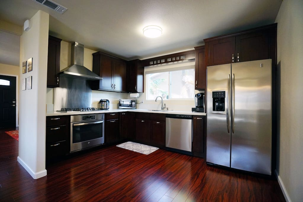 Fully stocked kitchen with all new stainless appliances