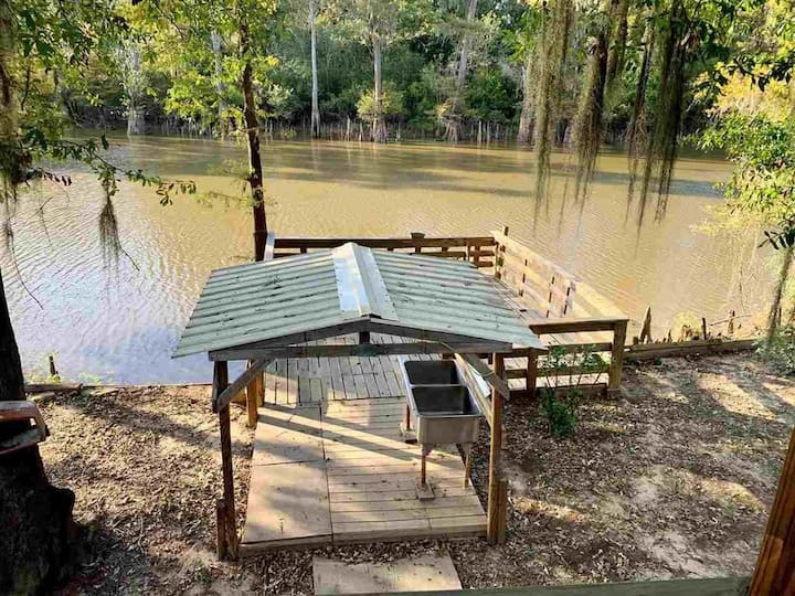 Relaxing Camp On Neches River