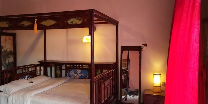 山岚民宿——红豆古典大床房