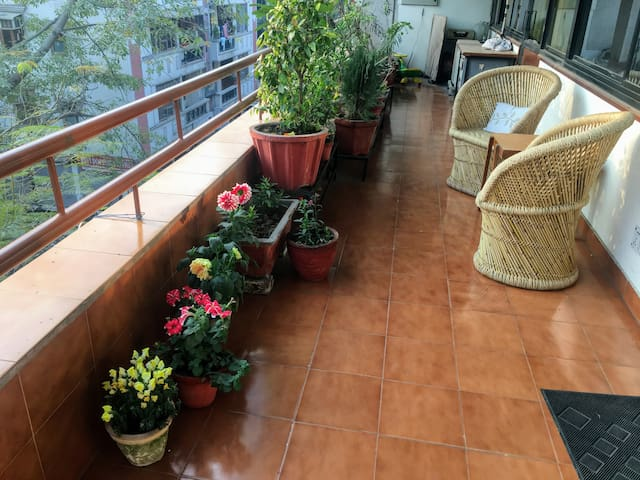 Sunny, Airy, Huge Pvt Room & Balcony in Lajpat Ngr - New Delhi