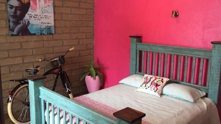 Hostal Hoja Santa habitación mexicana