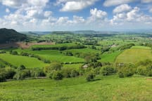 View from nearby Coaley Peak