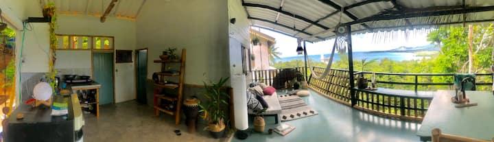 Panoramic seaview house in the jungle Koh Phangan