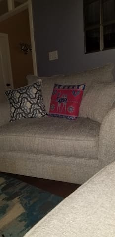 Comfortable double chair in common area