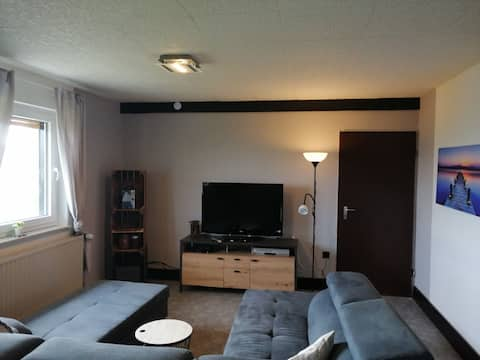 Piękny apartament z widokiem na dolinę Fulda