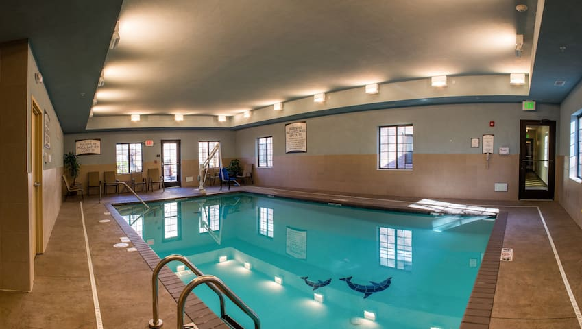 Indoor Pool. Free Breakfast. Only 30 Min to Deep River Waterpark.