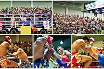 Lumpini Boxing Stadium, the best places to see a Muay Thai match.(20 minutes by taxi/cab, approximately cost  is 100 Thai Baht)