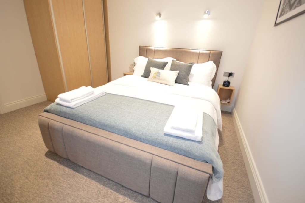 Example of the double bed in the studio