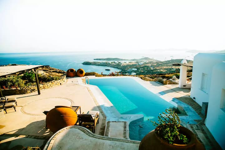 Mykonos Entire Luxury Villa Private Pool and View