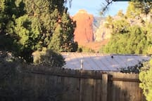 View of Coffee Pot Rock from our backyard!