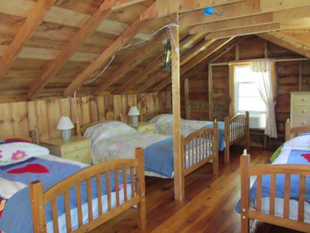 Second floor dormitory sleeps 4