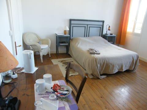 Dormitorio 20m2 en casa de baño privado, WC