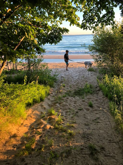 Magical short walk through natural preserved area leads to beach