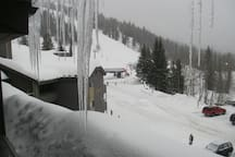 View of Chairlifts from Balcony