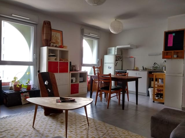 Appartement original dans écoquartier