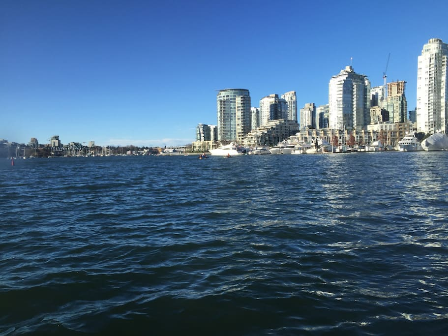 A crisp fall day on one of the the False Creek ferries