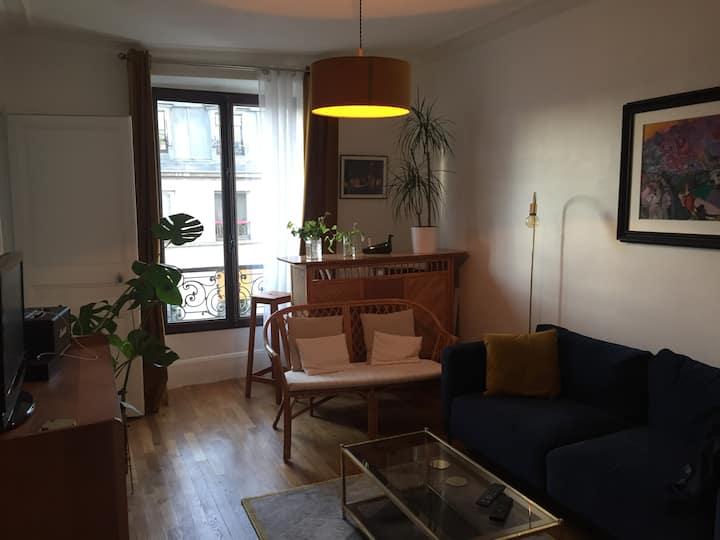 Appartement de charme à Paris, quartier Belleville
