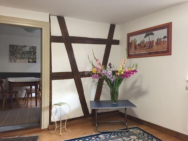Maison typiquement alsacienne à colombage
