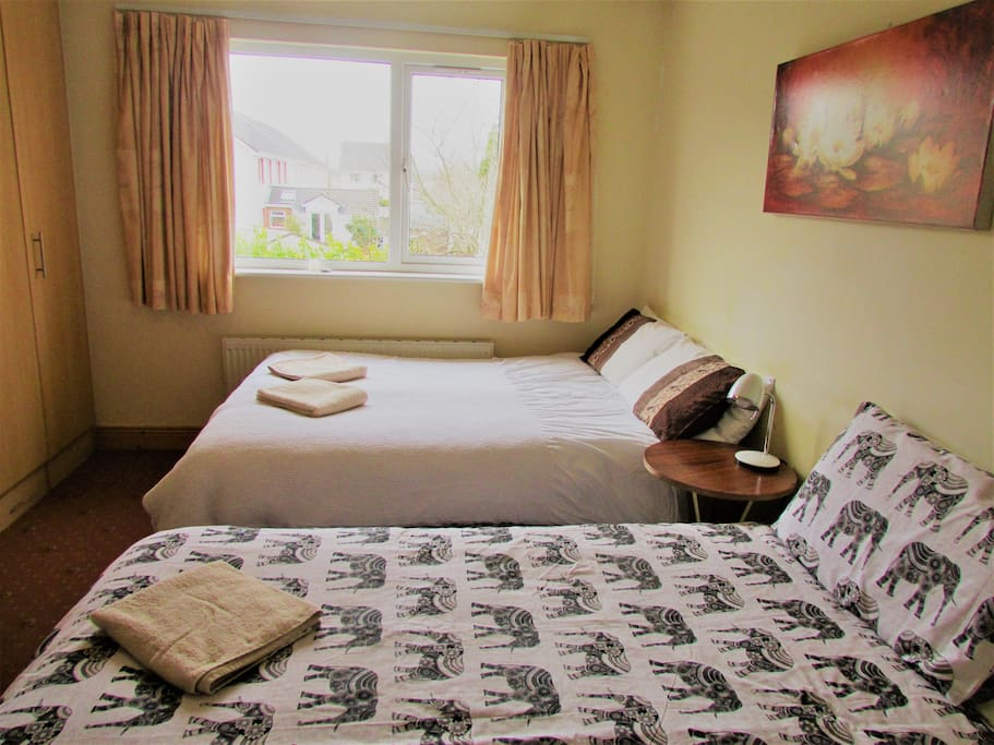Private room with en suite shower - Double bed and single bed.  Sleeps up to 3