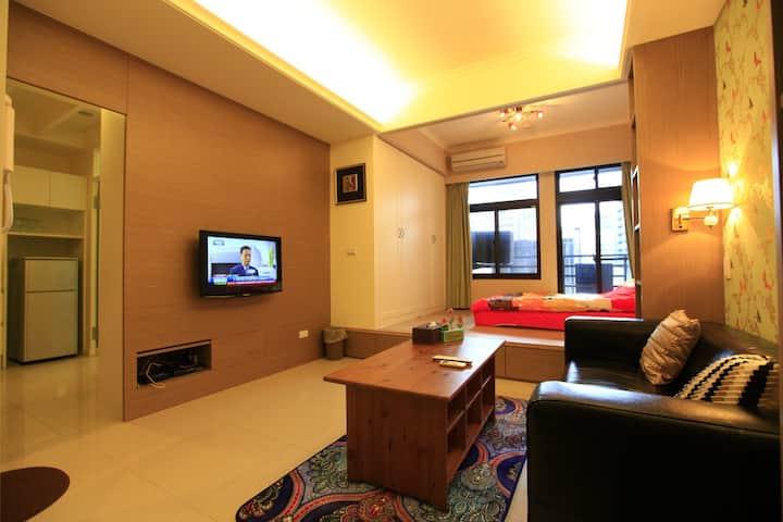 A1객실 호텔 식 아파트! 최대 6인 숙박 가능. 도보로 약 5분 지하철 역 도착
