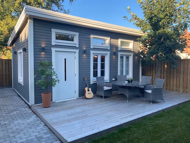 Trelleborgs Tiny House Central Private Garden