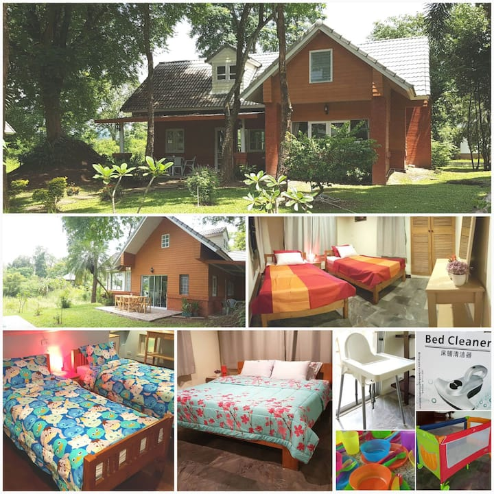 Family House in Khao Yai with Kids Stuff