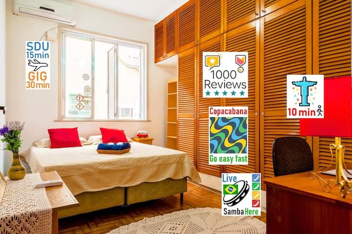 ♥Red Room♥Christ, Beach, Lapa & Santa Teresa