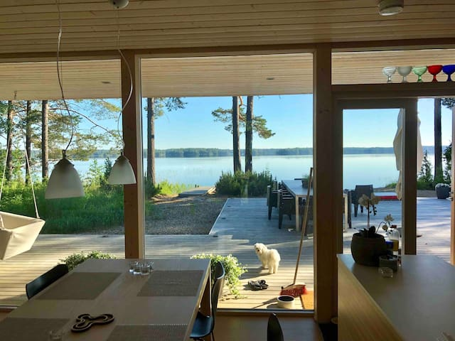 Modern Scandi design Villa by a beautiful lake