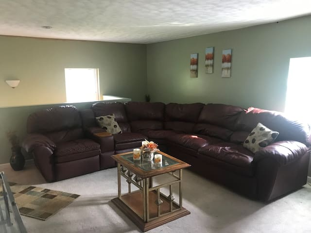 Pullout sofa sectional in your living room.