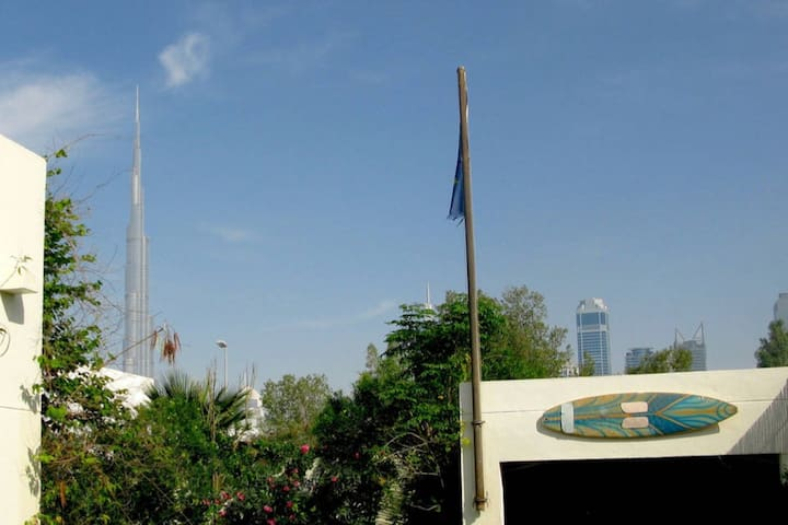 """Guesthouse """"Burj Khalifa view"""" near Mall and Beach"""