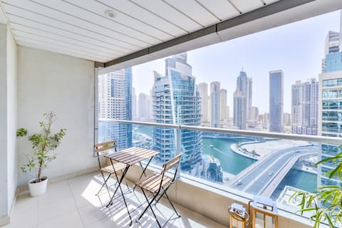 ♡ of Dubai 2Bd | 18th Floor Balcony | Parking