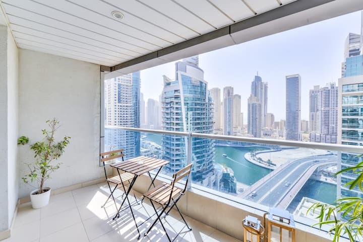 ♡ of Dubai 2Bd | 18th Floor Balcony | Parking