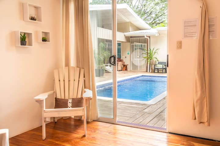 Freestyle Surf House - Double Room Pool Area