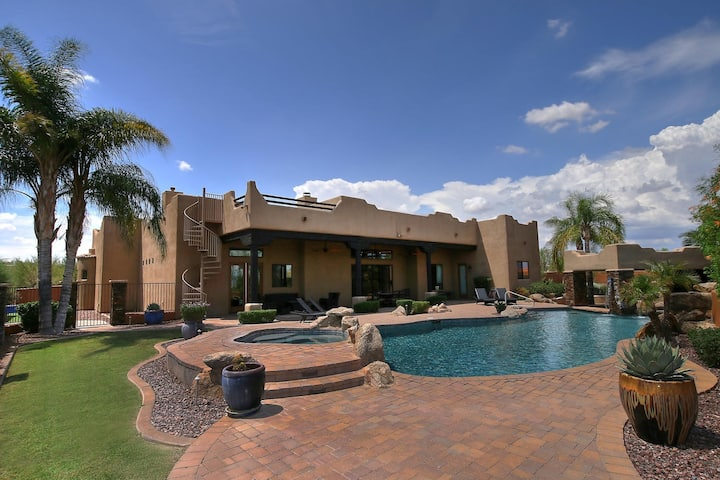 Family Home & Desert Oasis with Private Pool!