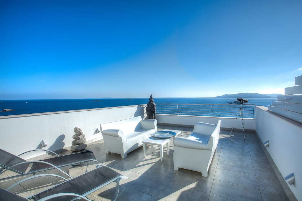 Breath-taking views from the shared terrace