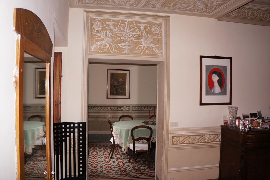 reception room and dining room