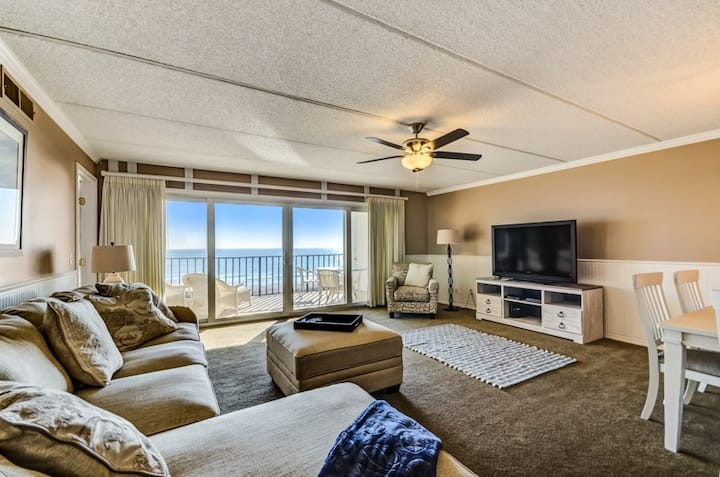 Amelia South H4:  Open and Airy oceanfront condo, with renovated kitchen, new appliances and furnishings