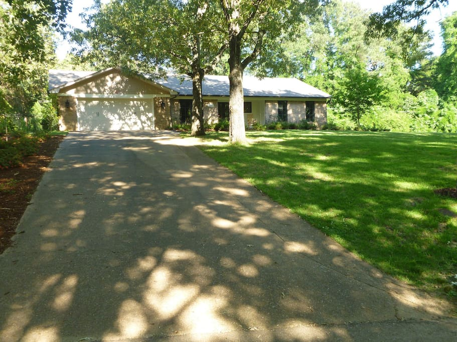Driveway and front of house