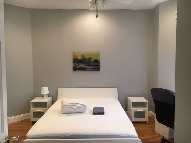 Sunny Queen Bed Room close to Boston Medical