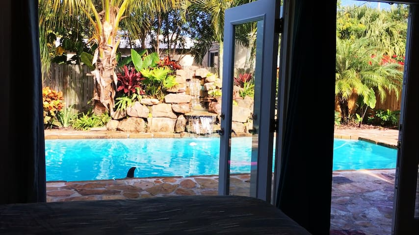 Beach House Waterfall & Private Pool.  Discounts! - Redington Beach - Huis