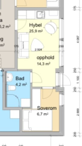 Ny og moderne hybel sentralt i Kristiansand - Kristiansand - Apartment