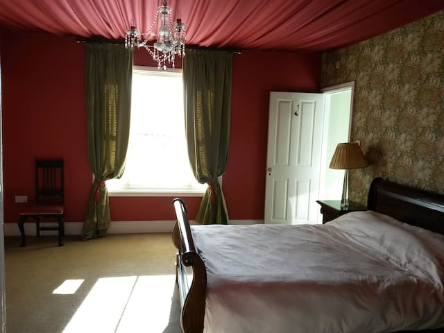 Fabric covered ceiling