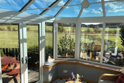 The Owl House with views of the Cairngorms