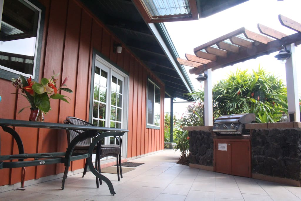 Covered Outdoor BBQ grill